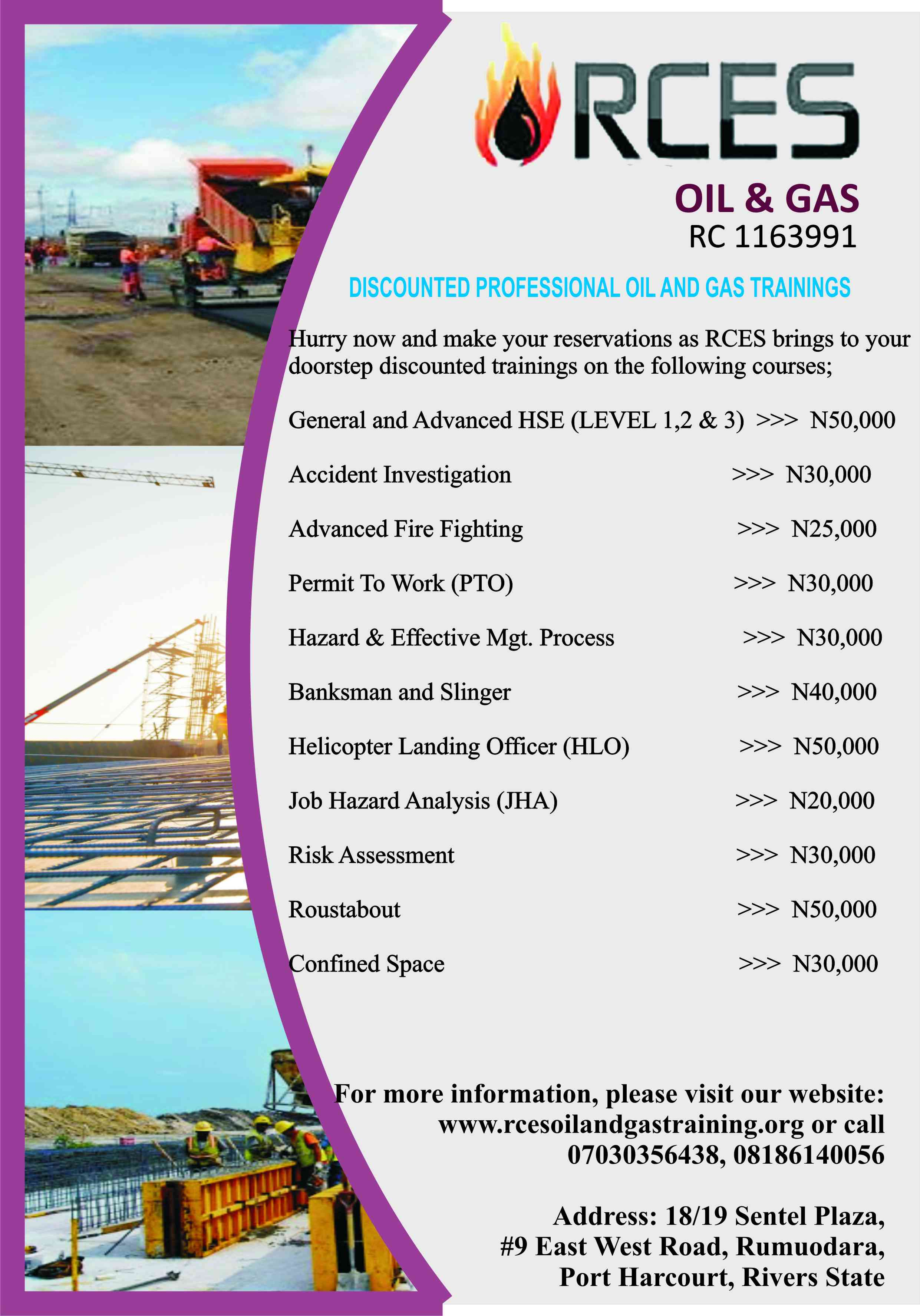 DISCOUNTED PROFESSIONAL OIL AND GAS TRAINING